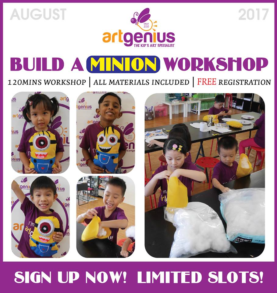 August 2017 Build A Minion Soft Toy Workshop